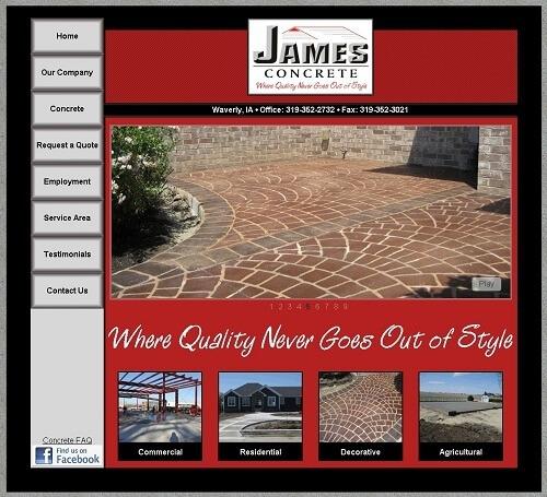 James Concrete Website Thumbnail