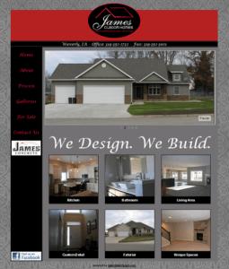 James Custom Homes Website Thumbnail