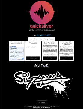 Quicksilver DJ Website Thumbnail